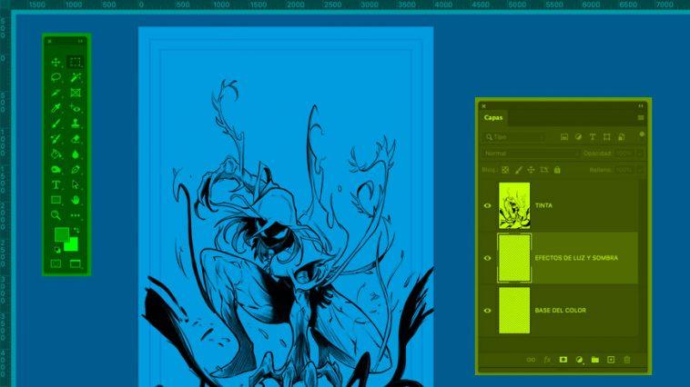 figura4-como-preparar-un-dibujo-para-pintar-en-photoshop-cursos-online-comic-escola-joso